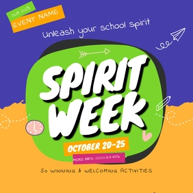 Spirit Week School Social Media Template