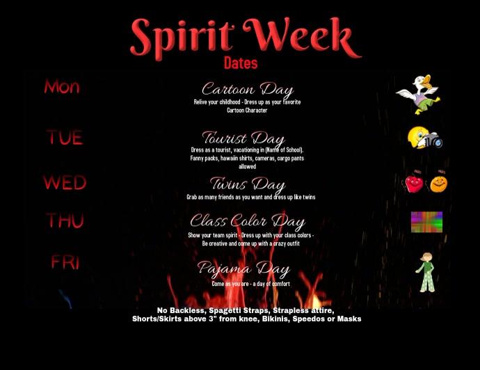 Spirit Week Video Flyer