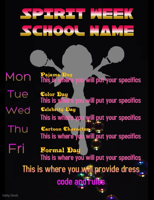 Spirit Week Video Flyer