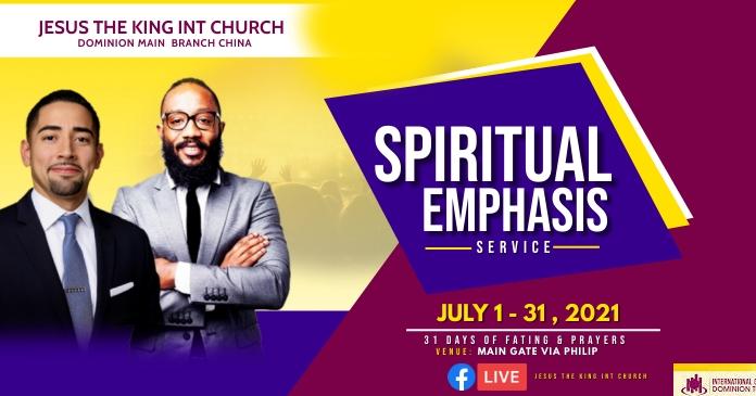 Spiritual emphasis Gambar Bersama Facebook template