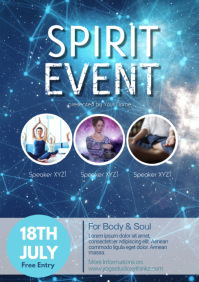 Spiritual Event Body Mind Soul Stars Yoga Ad