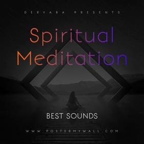 Spiritual Meditati Music Cover Art Template