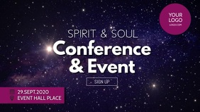 Spiritual Mind Soul Event Retreat Power Stars Facebook Cover Video (16:9) template