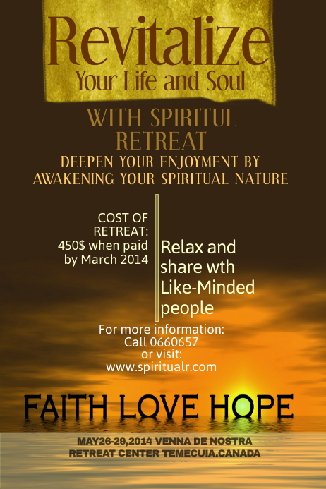 Spiritual Poster Template