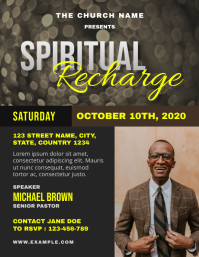 Spiritual Recharge Church Event Flyer