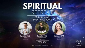 Spiritual Retreat Mind Soul Universe Stars Ad Facebook Cover Video (16:9) template