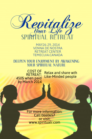 Spiritual Retreat Poster Template