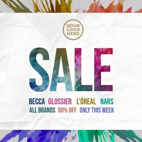 Splash Colors Sale Ad Template Instagram Post