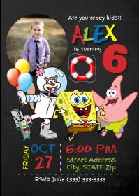 Spongebob Birthday Invitation