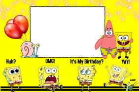 Spongebob Party Prop Frame