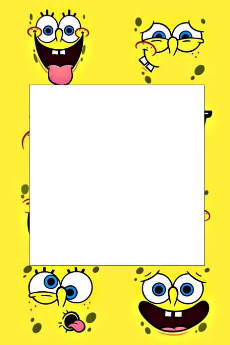 Spongebob Party Prop Frame Template Postermywall