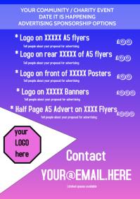 Sponsorship Options Leaflet A5 template