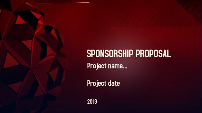 Sponsorship proposal Digitale Vertoning (16:9) template