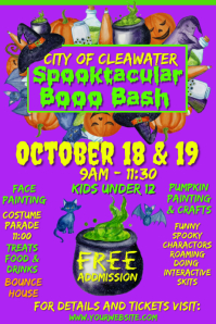Spooktacular Boo Bash Event Poster template