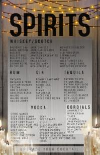 SPOOKY GOTH DARK SPIRITS LIST ความกว้างแบบครึ่งหน้า template