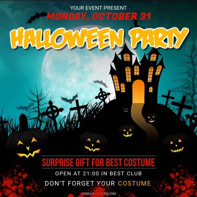 Spooky Halloween Costume Party Video Ad