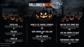 Spooky Halloween Digital Display Widescreen Menu Video