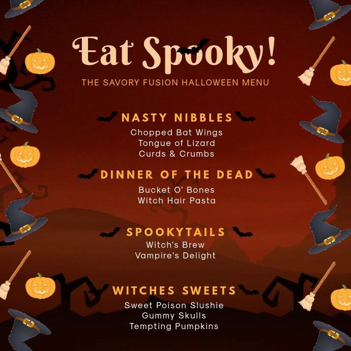 Spooky Halloween Dinner Menu Video