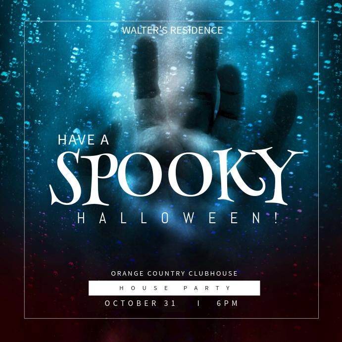 spooky halloween instagram post template