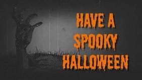 Spooky Halloween Music Video Digitale Vertoning (16:9) template