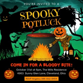 Spooky Halloween Potluck Video Ad