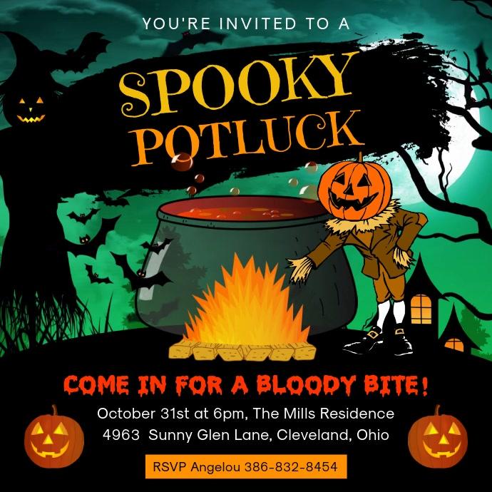 Spooky Halloween Potluck Video Ad