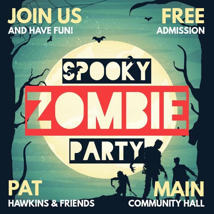 Spooky halloween zombie party social media invitation template spooky halloween zombie party social media invitation customize template stopboris Gallery