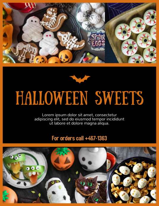 Spooky Sweets Flyer (US Letter) template