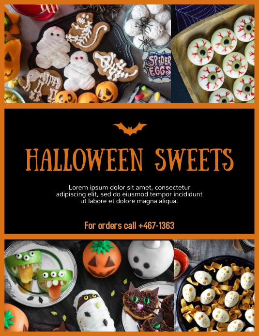 Spooky Sweets 传单(美国信函) template
