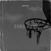 Sport basketball hoop mixtape cover template Sampul Album