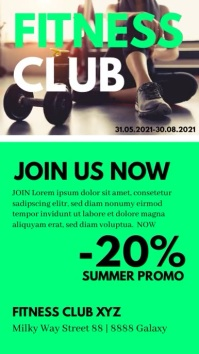 Sport Business Flyer Services Poster Advert Instagram Story template