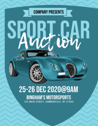 Sport Car Auction Flyer