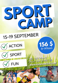Sport Fitness Kids Football Camp Group Flyer