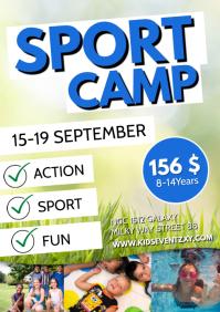 Sport Fitness Kids Football Camp Group Flyer A4 template