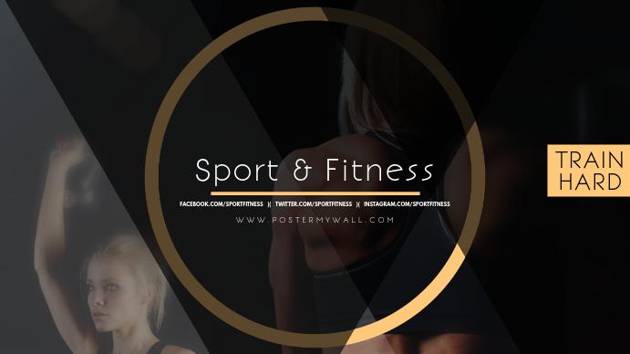 Sport Fitness Youtube Channel Art Banner