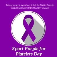 sport purple for platelets day Iphosti le-Instagram template