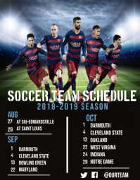 Sport Schedule Flyer (US Letter) template