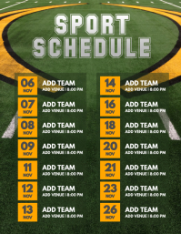 Sport Schedule Flyer