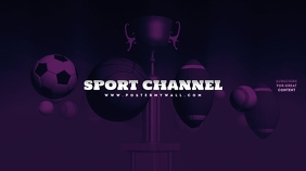 Sport Youtube Channel Art template