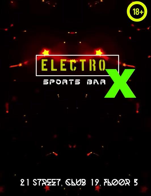 Sports Bar Løbeseddel (US Letter) template