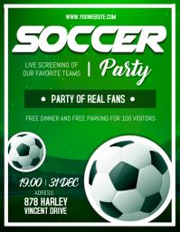Sports Bar Soccer Screening Flyer template