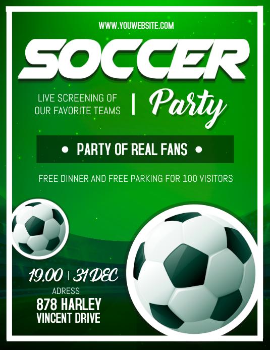 Sports Bar Soccer Screening Flyer