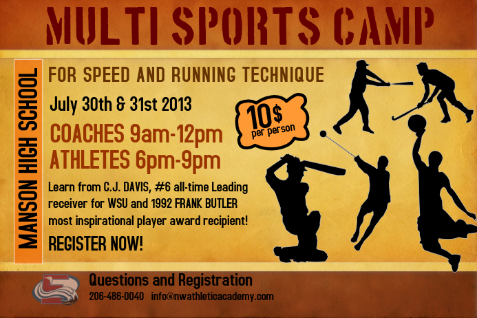 Sports Camp Flyer Template  Postermywall