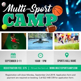 Sports Camp Summer Square Video