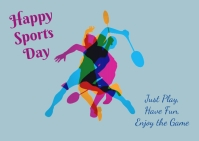 Sports day Postcard template