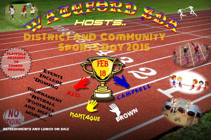 Waterford sports day template postermywall for Sports day poster template