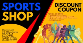 Sports Discount Coupon Card Template