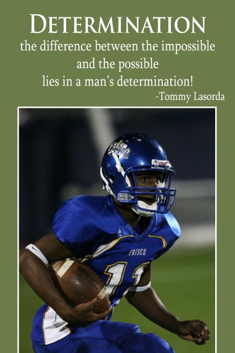 Sports Football Baseball Determination Motivation poster