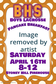 sports football lacrosse pancake breakfast event flyer