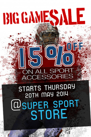 Sports Sale Poster Template